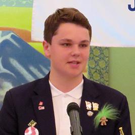 2017年度 甲府シティRC 青少年交換受入学生 トゥマス・ヨエンセン